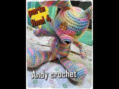 CONEJO AMIGURUMI COLA Y BOCA ( PARTE FINAL 4 )Andy crochet - YouTube