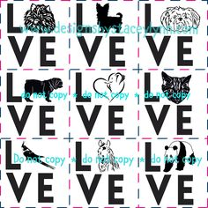 For the love of animal decal designs