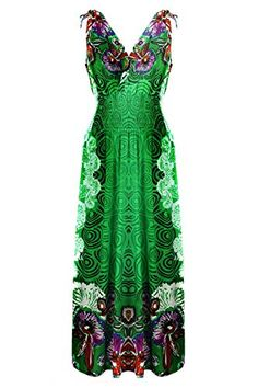 a2c2e05a3c0 Plus Size Shoulder Ties Floral Summer Holiday Resort Maxi Dress - BodiLove