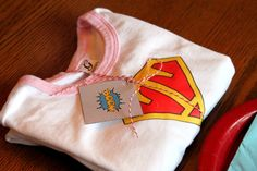 Super Party - favor was a personalized 'super' shirt...great idea!