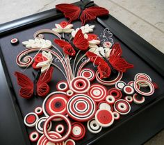 Image result for paper quilling butterfly wall frames