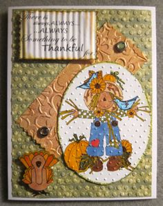 Adorable Handmade Thanksgiving Card with a by Beadlady5CardDesigns, $4.75