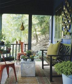 Love this screen porch.