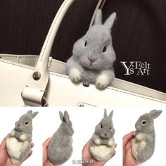 Purse pal bunny