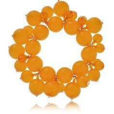 KENNETH JAY LANE HONEYGOLD Amber Pearls Bracelet (3.220 UYU) ❤ liked on Polyvore featuring jewelry, bracelets, pearl jewellery, nickel free jewelry, amber bangle, pearl jewelry and amber jewelry