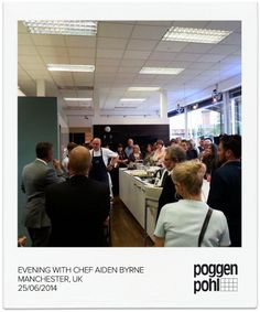 At Poggenpohl in Manchester with Chef Aiden Byrne #cooking #poggenpohl #chef #event