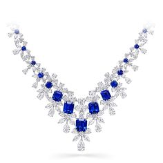 Discover our extraordinary Sapphire and Diamond Necklace, from the High Jewellery Collection at Graff. Graff Jewelry, Sapphire Jewelry, Gems Jewelry, High Jewelry, Jewellery, Expensive Necklaces, Blue Diamond Necklace, Beautiful Necklaces, Celebrity Photos