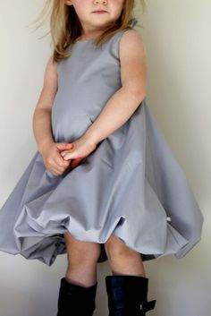 Bubble Dress Pattern and tutorial 12m6T DIY pdf von heidiandfinn