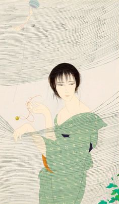 Nakajima Kiyoshi (1943-) 中島潔 Japanese Knotweed ひるがお、1980′s