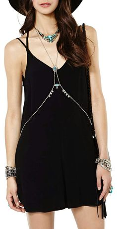 #fashion #dress #black #accessory #cool #boho