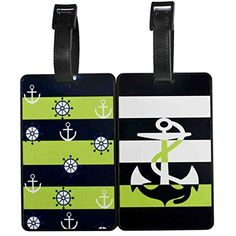 Oliveland Colorful Series Set of 2 Luggage Tags Go Sailing Anchor ** Click on the image for additional details.Note:It is affiliate link to Amazon.