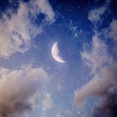 Find images and videos about blue, sky and wallpaper on We Heart It - the app to get lost in what you love. Cute Wallpapers, Wallpaper Backgrounds, Moon Photography, Good Night Moon, Beautiful Moon, Sky Aesthetic, Nocturne, Stars And Moon, Moon And Stars Wallpaper
