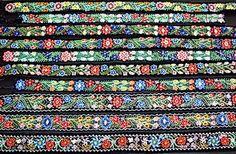 trad Romanian beaded women's belt