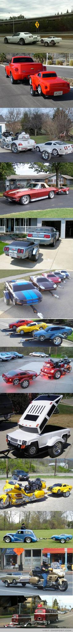 Car Trailers That Look Like Miniature Cars..Re-pin brought to you by agents of #Carinsurance at #HouseofInsurance in Eugene, Oregon