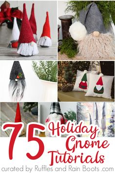 Ultimate List of Christmas Gnome Tutorials OMG! These Easy DIY holiday gnome tutorials are so perfect! I found about 10 different DIY Christmas Gnome Tutorials I have to make TODAY--the rest I'. Felt Christmas, Diy Christmas Gifts, Simple Christmas, Beautiful Christmas, Christmas Trees, Christmas Candles, Modern Christmas, Easy To Make Christmas Ornaments, Christmas Holidays