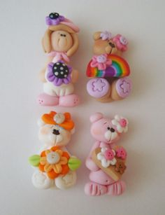 Mini Mix Set Pink Bear Rainbow Orange Retro por RainbowDayHappy