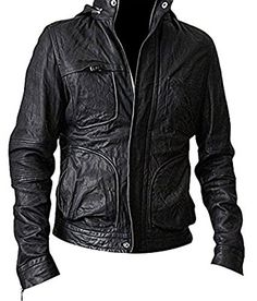Tom Cruise Ghost Protocol Mission Impossible 4 Hooded Men's Genuine Leather Jacket: Amazon.co.uk: Clothing