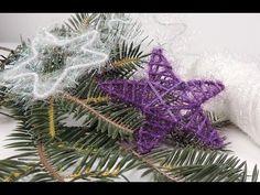 Елочные игрушки из ниток. Новогодняя звезда | Tavifa - YouTube