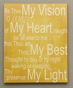 Be Thou My Vision 16x20 Canvas Print by kisstheskyshop on Etsy, $60.00