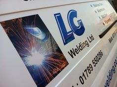 Printed graphic and vinyl lettering added to LG Welding Van