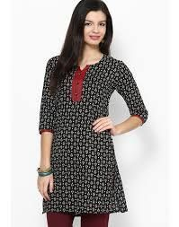 #Kurti #Style- #BlackRed Available at our store Be the icon in a simple style with these absolutely 'too good ones' #casuals #shopping #femalewears #dresses #indianstyle #FConnexions