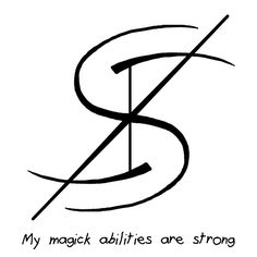 """My Magick abilities are strong"" sigil requested by anonymous Wiccan Symbols, Magic Symbols, Symbols And Meanings, Ancient Symbols, Viking Symbols, Egyptian Symbols, Viking Runes, Wiccan Runes, Magick Spells"