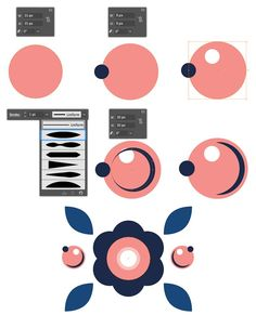 How to make beautiful vector flowers and berries in Adobe ilustrator. Step by step free tutorial