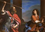 Saul Attacking David by Guercino