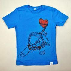 LIONHEART blau   MR. NELSON ecowear  organic cotton fairtrade t-shirts