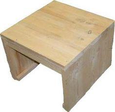 Eenvoudig model krukje en steigerhout tafeltje om zelf te maken, gratis bouwtekeningen en handleiding voor doe het zelvers.