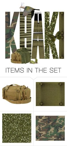 """""""Khaki..."""" by k-schrager ❤ liked on Polyvore featuring art"""