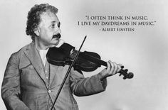 Music was a lifelong passion for Einstein, who began violin lessons at six-years-old. Had he not been a physicist, he said he would probably have earned his living as a musician.