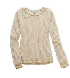 Heather Frost Aerie Metallic Stripe Tee - A little shine, a lot of softness! #Aerie