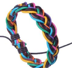 Fashion Lady Retro Leather Yellow and Blue Colorful Weave Bracelet Strands Bracelet Suede Rope Bracelet Gift Whatland,http://www.amazon.com/dp/B00J3KWENO/ref=cm_sw_r_pi_dp_4iLEtb07WGN367BT