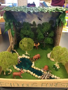 Students could build a diorama of the ecosystems the Europeans found when they first arrived to the Americas. Students would be able to consider the different aspects of ecosystems and the relationships within them. --A.G.