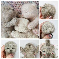Baby Knitting Patterns, Knitting Bear, Knitted Animals, Felt Animals, Instagram Gallery, Sleeping Bunny, Quick Knits, Cat Pattern, Stuffed Animal Patterns