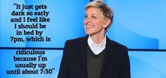 Ellen on the time change