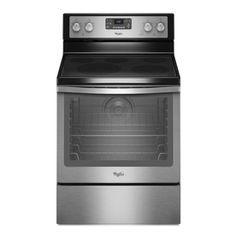 Whirlpool 30-in Freestanding Smooth Surface 5-Element 6.2 cu ft Self-Cleaning Convection Electric Range (Stainless Steel)