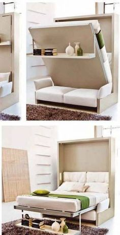 Murphy bed! Genius concept couch under yes!!! this is what I want!
