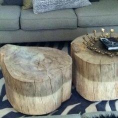 DIY Tree stump tables :)