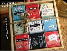Chocolates personalizados para el Día del Padre! Regalos originales. www.colorete.cl / Chile.