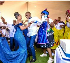 A Stylish Tswana Wedding- Bontle bride features real south african weddings with a flair of culture plus wedding tips, ideas and advice African Traditional Wedding Dress, Traditional Wedding Attire, African Wedding Dress, African Dress, African Lace, African Attire, African Wear, Queen Wedding Dress, Wedding Dress Trends