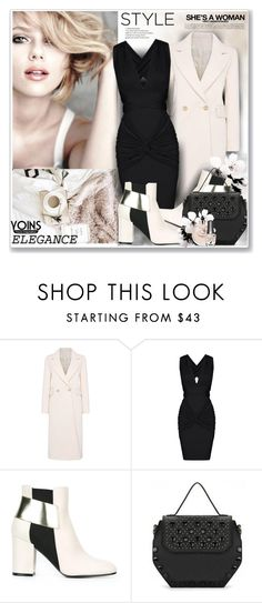 """""""Elegance Yoins300"""" by sneky ❤ liked on Polyvore featuring Bobbi Brown Cosmetics, Pollini, Morgan Taylor, yoins, yoinscollection and loveyoins"""