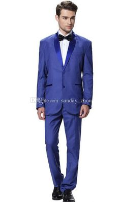 Assembling A Two Piece Blue Man Suit Men'S Formal Occasions When The Shawl Collar Suit To Marry The Groom Wear A Suit Party Men Mens Tuxedo Suit Suits And Tuxedos From Sunday_zhou, $85.03| Dhgate.Com