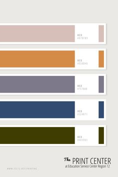Use these colors to make your project standout! Bring your design ideas and print jobs to us: The Print Center at ESC Region 12 in Waco, Texas. Red Colour Palette, Colour Schemes, Color Patterns, Color Combinations, Print Center, Waco Texas, Color Stories, Color Theory, Pantone Color