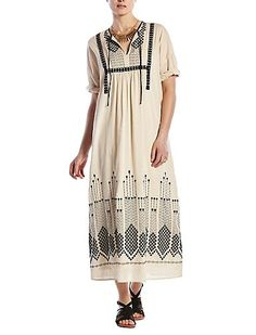 Embroidered Maxi Dress | Lucky Brand