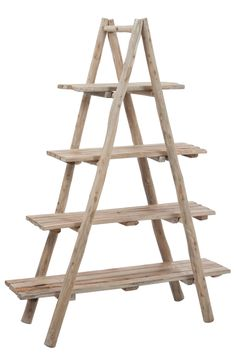 360€ Étagère en chêne de la marque Jolipa, J-line   KOTECAZ Bois Diy, Ladder Bookcase, Plank, Shelves, Home Decor, Products, Bulletin Boards, Shelving, Shelving Racks