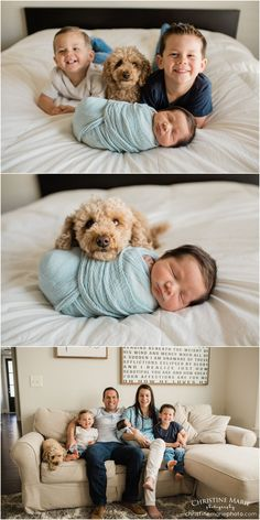 Newborn Fotoshooting Ideen - lifestyle newborn photography, lifestyle newborn session, newborn with siblings,. - Baby World Newborn Family Pictures, Baby Boy Photos, Newborn Photos, Baby Pictures, Newborn Session, Dog Photos, Newborn Sibling Pictures, Family Pics, Baby Family
