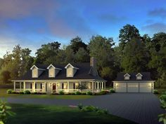 Love the outside of this home but the floorplan needs a lot of work for us.   Country   Farmhouse  House Plan 69004