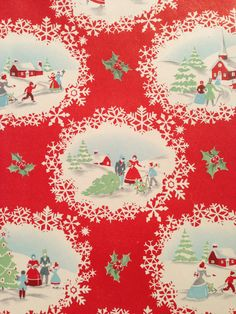 Vintage Christmas Wrapping Paper  Victorian by TheGOOSEandTheHOUND, $6.00